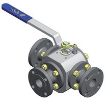 Floating ball valve / lever / petroleum / for air