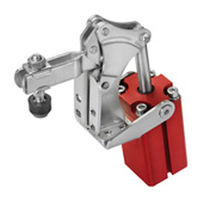 Pneumatic toggle clamp / vertical