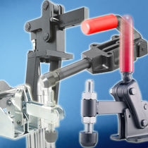 Vertical toggle clamp / push-pull