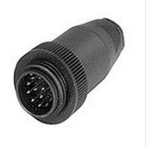 Round plug / threaded / plastic / for quick coupling