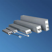 Wire-wound resistor / aluminum-housed / housed / LV