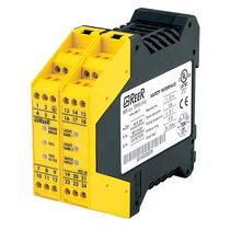 Safety relay / 2 NO / DIN rail / with muting