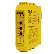 Speed monitoring relay / safety / DIN rail / emergency stop