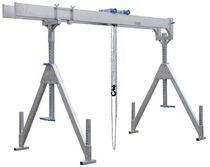 Workshop gantry crane / aluminum / double-girder / for heavy loads