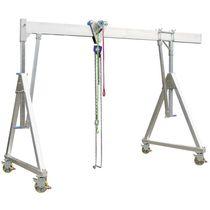 Gantry crane on casters / aluminum / single-girder / for workshops