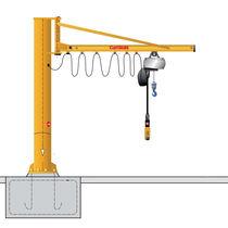 Pillar jib crane / electric / overbraced