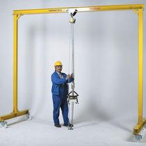Mobile gantry crane / for workshops / single-girder