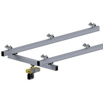 Single-girder overhead traveling crane / aluminum / low headroom