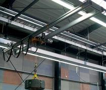 Double-girder overhead traveling crane / aluminum / low headroom