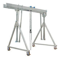 Gantry crane on casters / aluminum / double-girder / for workshops