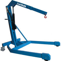 Mobile workshop crane / folding / mobile / hydraulic