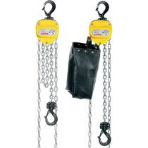 Manual chain hoist / low headroom / corrosion-resistant