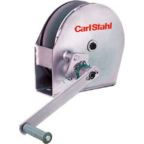 Manual winch / lifting / stainless steel / gear