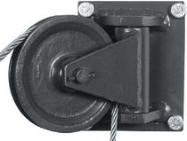 Rotating pulley / for cables / bearing