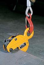 Sheet metal lifting clamp / for beams / horizontal / manual