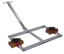 Heavy load moving skate / with 4-point support