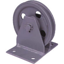 Roller pulley / for cables / vertical