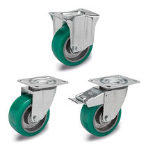 Wheel with solid tire / polyurethane-coated / light-duty