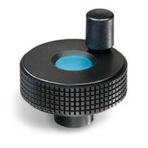 Knurled control knob