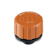 Round plug / threaded / technopolymer / with seal