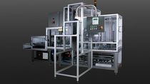 High level infeed palletizer / continuous-motion