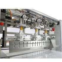 Chocolate cutting machine / foodstuffs / guillotine / ultrasonic