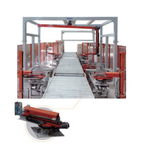 Rotary arm stretch wrapper / fully automatic / pallet / for heavy loads