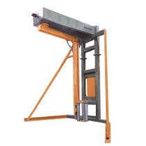 Rotary arm stretch wrapper / semi-automatic / for industrial applications / pallet