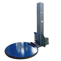 Automatic pallet wrapping machine / stretch film / turntable / for chemical products