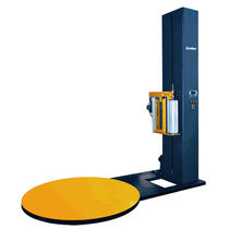 Turntable stretch wrapping machine / semi-automatic / for pallets / for doors