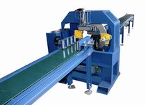 Turntable stretch wrapper / horizontal / automatic / with conveyor