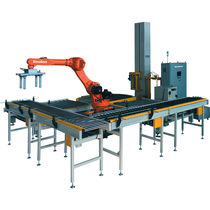 Layer palletizer / bag / for boxes / robotic