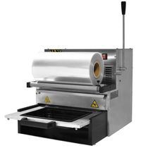Linear tray sealer / manual / for the food industry