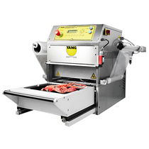 Linear tray sealer / semi-automatic / for the food industry