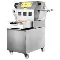 Linear tray sealer / semi-automatic / vacuum