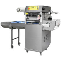 Linear tray sealer / automatic / with modified atmosphere packaging