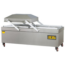 Semi-automatic packing machine / vacuum / double-chamber