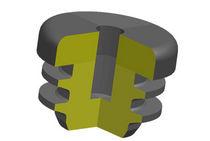 Round plug / finned / male / plastic
