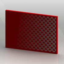 abrasion resistant elastomer composite panel with integrated perforated metal plate PUCEST® Pucest Protect GmbH