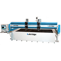 abrasive water-jet cutting machine 1500 mm x 1500 mm (5'x5') - 6400 mm x 6400 mm (21'x13') JET EDGE