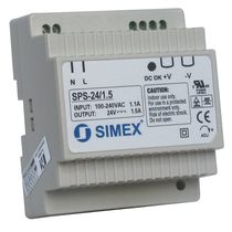 AC/DC power supply: compact DIN rail voltage rectifier SPS-24/1,5 SIMEX