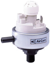 adjustable differential pressure switch 45 mm, max. 0.1 bar AirCom Pneumatic