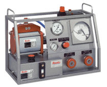 air driven portable pressure test unit max. 3 650 bar, 50 l/min | WPS, DPS series RESATO High pressure technology