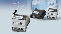 alarm and event notification and remote management via SMS GSM/GPRS, Email, SMS HMS Industrial Networks