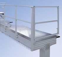 aluminum profile for staircase and platform  Maschinenbau Kitz GmbH