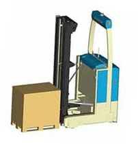 automated guided electric forklift truck (AGV) with single forks 1 800 - 3 500 kg, max. 3 400 mm  SYSTEM AGV