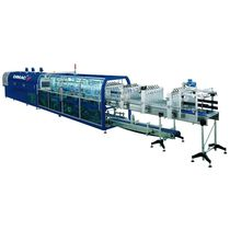 automatic bottle sleeve wrapping machine (heat shrink film, continuous motion) max. 80 p/min | GAL@XY series Robopac - Dimac