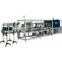 automatic bottle sleeve wrapping machine (continuous motion) max. 30 p/min | ST@R ONE series Robopac - Dimac