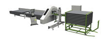 automatic cut-off saw for PVC profiles and glass beads 2 x 45 ° | AGS DUBUS Group