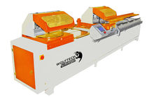 automatic double-head miter cut-off saw for PVC profiles and glass beads Ø 2 x 450 mm | WOLF24  Wolftech Machine PVC ALU WOOD technologies